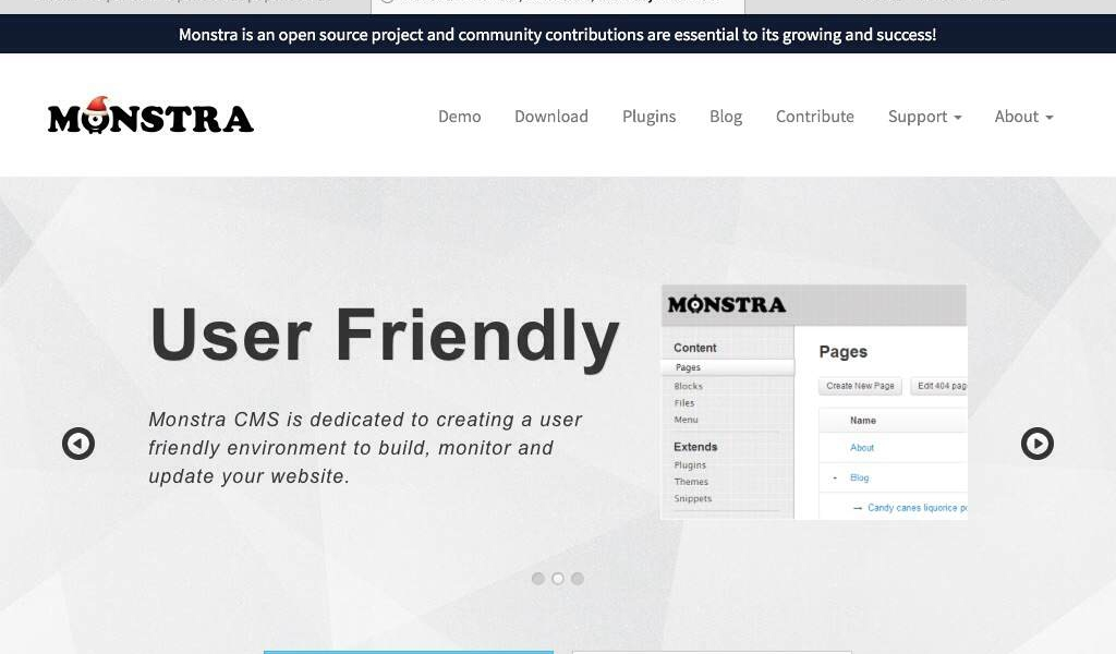 Monstra – mini Monster CMS