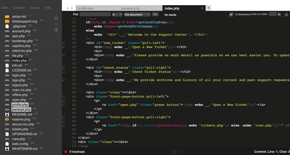Open Source WebBased IDE ICEcoder
