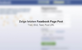 PHP zeige letzten Facebook Page Post
